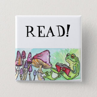 Storybook Frog Pinback Button
