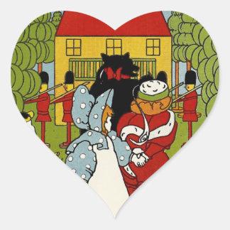 Storybook Land Heart Sticker