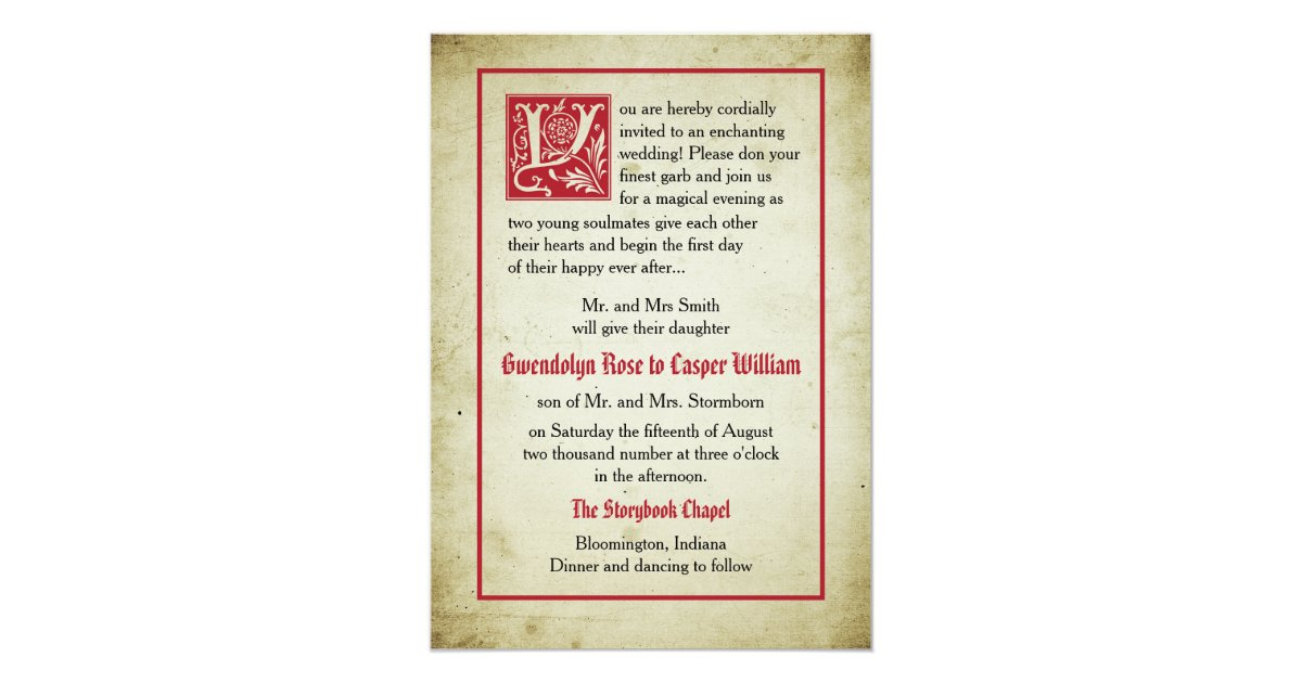 Storybook Page Invitations & Announcements | Zazzle