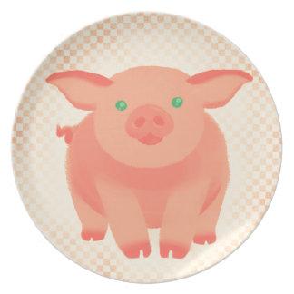 Storybook Pig Melamine Plate