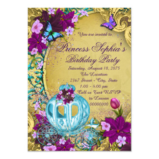 Storybook Princess Birthday Party Card