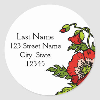 Storybook Return Address Envelope Seal Classic Round Sticker
