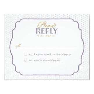 Storybook Romance Response Cards Custom Invitation