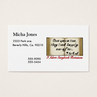 Storybook Romances Happily Ever After Business Card