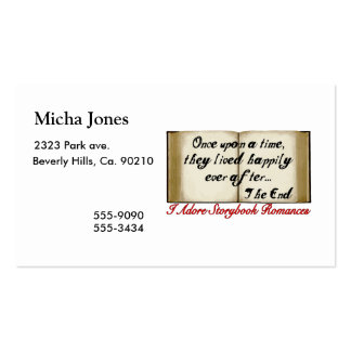 Storybook Romances Happily Ever After Double-Sided Standard Business Cards (Pack Of 100)