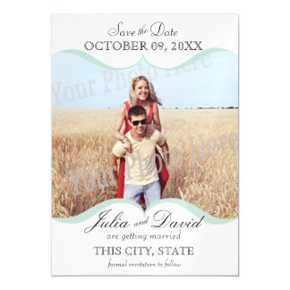 Storybook Scallop Sage Save the Date Magnetic Card