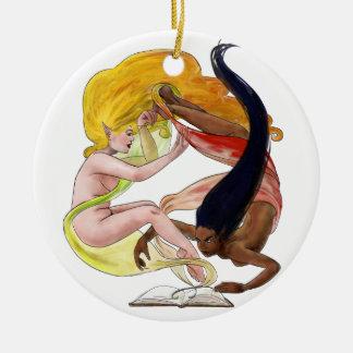 Storybook Women Ceramic Ornament