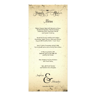 Storyline Customizable Wedding Menu Card Rack Cards