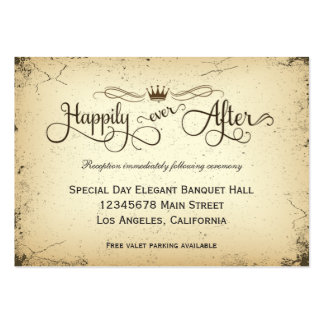 Storyline Formal Wedding Reception Card Large Business Cards (Pack Of 100)