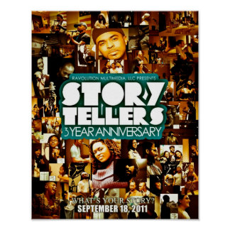 StoryTellers 3 Year Anniversary Collage Poster