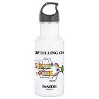 Storytelling Genes Inside (DNA Replication) 18oz Water Bottle