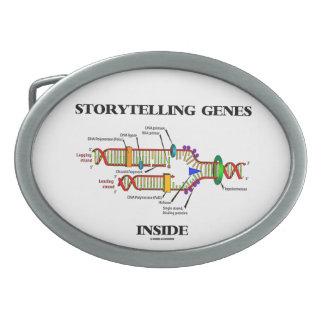 Storytelling Genes Inside (DNA Replication) Oval Belt Buckles