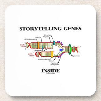 Storytelling Genes Inside (DNA Replication) Beverage Coaster