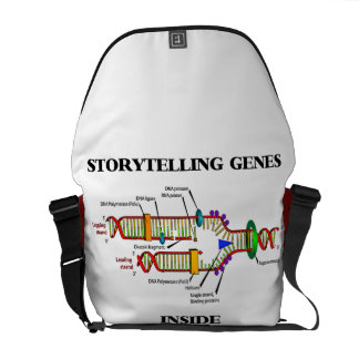 Storytelling Genes Inside (DNA Replication) Courier Bag