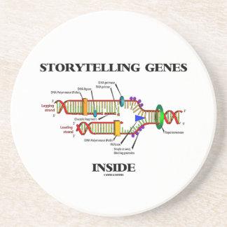Storytelling Genes Inside (DNA Replication) Sandstone Coaster