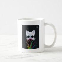 cat, kitten, paint, rainbow, cuddly, sugar, fueled, sugarfueled, coallus, michael, banks, sweets, candy, pop, surrealism, popsurrealism, lowbrow, cupcake, ice, cream, sprinkles, animals, bubbles, dark, creepy, cute, big, eye, eyes, candyart, candyland, animal, ilovecats, cats, kittens, cherry, white, sweet, love, heart, Mug with custom graphic design