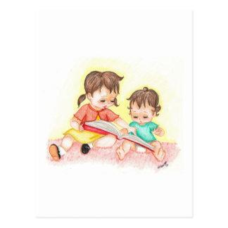 Storytime - Little Loves Art Postcard
