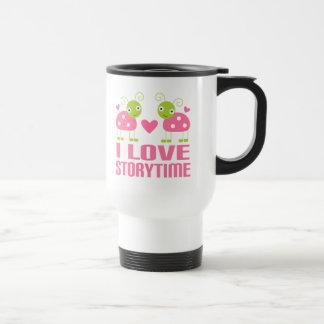 Storytime Reading Pink Librarian Gift Travel Mug