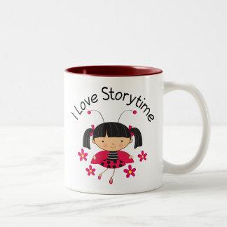 Storytime Reading Red Ladybug Librarian Gift Mug