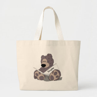 Storytime Teddy Bear Large Tote Bag