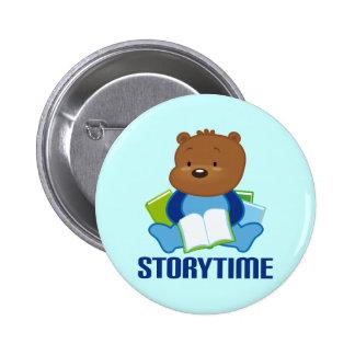 STORYTIME TEDDYBEAR PIN REDONDO DE 2 PULGADAS