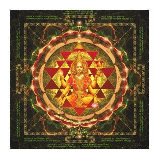 Stotram on Devi Lakshmi- Shri Yantra Canvas Print