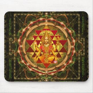 Stotram on Devi Lakshmi - Shri Yantra- Mahalakshmi Mouse Pad