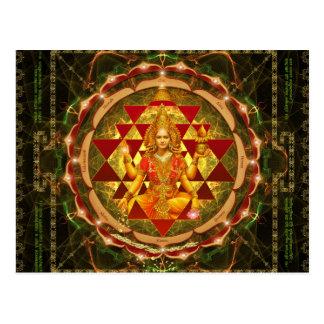 Stotram on Devi Lakshmi - Shri Yantra- Mahalakshmi Postcard