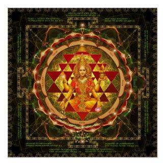 Stotram on Devi Lakshmi - Shri Yantra- Mahalakshmi Poster