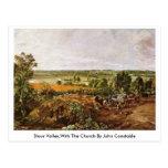 Stour Valley, con la iglesia de John Constable Tarjetas Postales