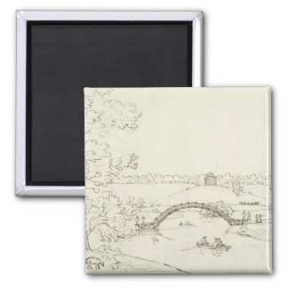 Stourhead, c.1780s (pen and ink on paper) magnet