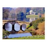 Stourhead Garden, Wiltshire  flowers Post Card