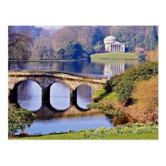 Stourhead Garden Wiltshire flowers Post Card