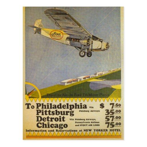 Stout Airlines Postcards