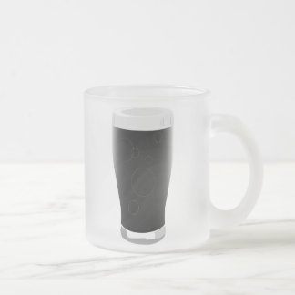 Stout beer glass 10 oz frosted glass coffee mug