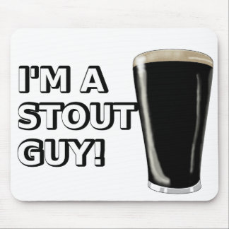 Stout Guy Image Mouse Pad
