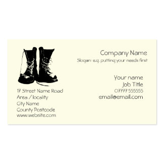 Stout Work Boots Generic logo Double-Sided Standard Business Cards (Pack Of 100)