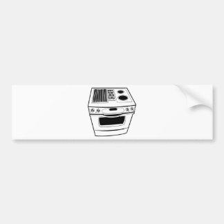 Stove Drawing Car Bumper Sticker