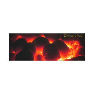 Stove Fire wrapped canvas Canvas Print