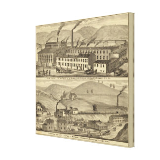 Stove foundry, fitting shops stretched canvas print