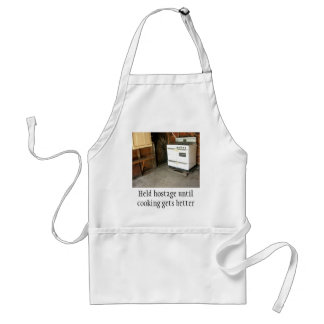 Stove is Held hostage until cooking gets better Adult Apron