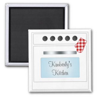 Stove Oven Door Personalized (Choose Color) 2 Inch Square Magnet