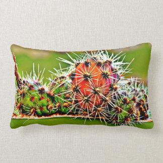 Stove Pipe Cactus Bulbs Poly Lumbar Throw Pillow