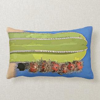 Stove Pipe Cactus in Bloom Lumbar Accent Pillow