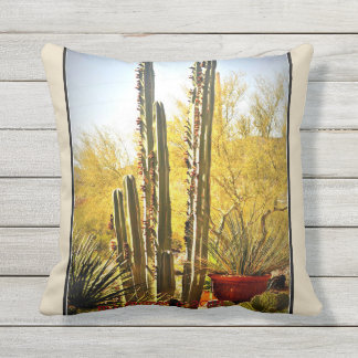 Stove Pipe in Bloom Outdoor Throw Pillow