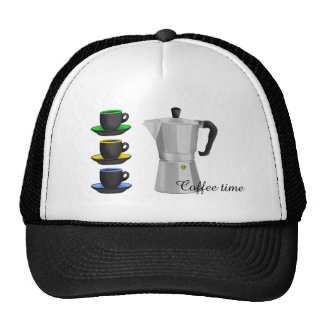 Stove Top Espresso Make And Cups Pattern Trucker Hat