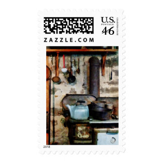 Stove With Tea Kettle Stamp