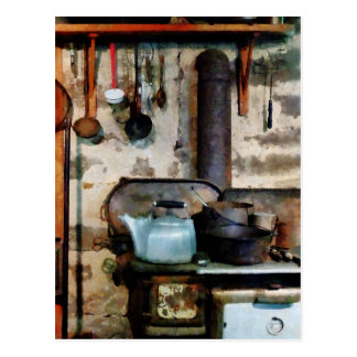 Stove With Tea Kettle Postcards