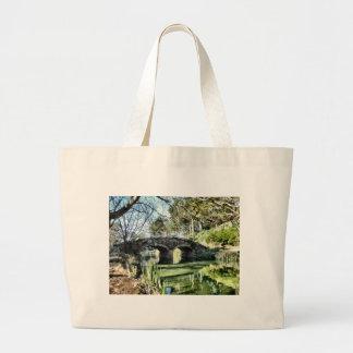 Stow Lake Bridge Large Tote Bag