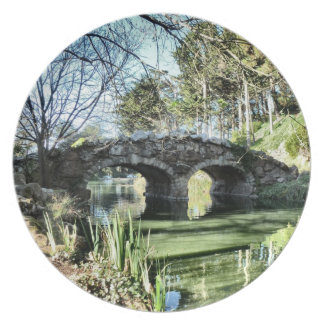 Stow Lake Bridge Melamine Plate